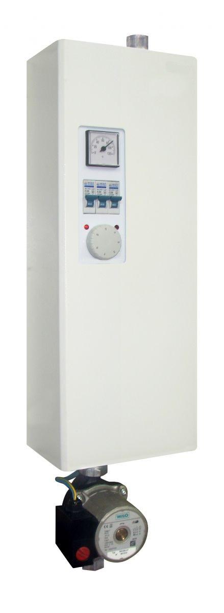 Котел Теси КОП-Э, 12 кВт /380В (трехфазный) с насосом, электрический, настенный, эконом класс,