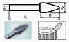Борфреза сфероконическая 55х6мм (13х3мм), тип G (тип насечки ― 6)