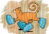 """Почтовая открытка """"Кот в угги"""""""