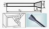 Борфреза коническая 55х6мм (4х3мм), тип N (тип насечки ― 6)
