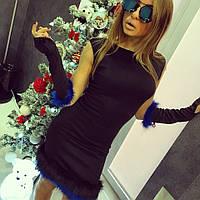 """Стильное платье с перчатками """"Fendi"""""""