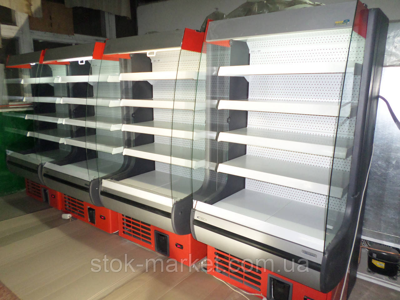 Холодильная витрина Росс-Modena б у, витрина холодильная б у, холодильные витрины б у, холодильный стеллаж б у