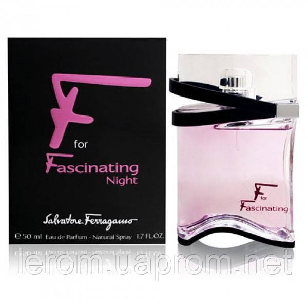Salvatore Ferragamo F for Fascinating Night edp 50ml (лиц.) -  GELENA Торговый Дом в Харькове