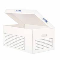 Контейнер архівний картонний Economix, білийE32703-14