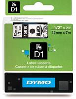 Стрічка D1 пластикова Dymo прозора 12мм х 7м для label manager/LabelPoint