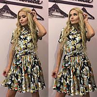 """Очень красивое шёлковое женское платье """"Принт D&G"""" 42-60р"""