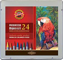 Акварельные цветные карандаши Progresso, 24шт.,мет.уп 23609 8784