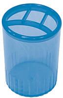 Підставка для ручок на 4 відділення Economix, пластик, синяE81976