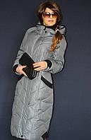 Зимнее женское пальто без меха - большие размеры