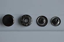 Кнопка альфа 15мм Блек Нікель