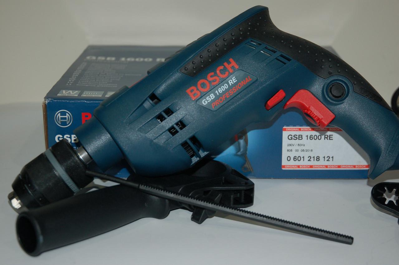 Ударная дрель Bosch GSB 1600 RE (бзп),0601218121