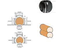 Фрезы для изготовления бруса дома R=80    180х60х4