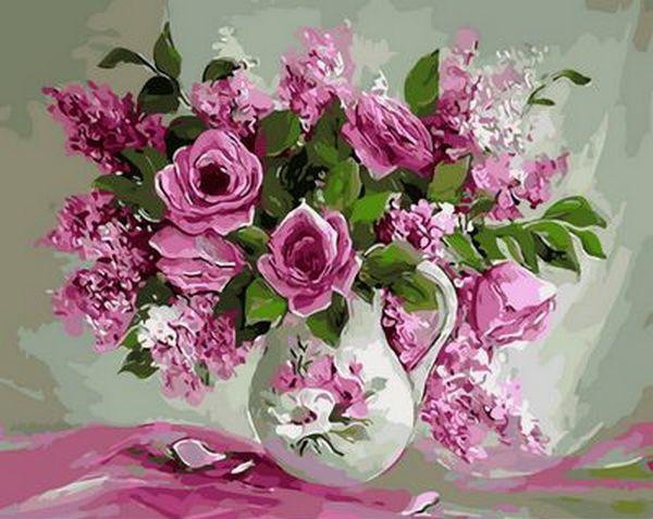 Набор-раскраска по номерам Розовая нежность  худ. Антонио Джанильятти