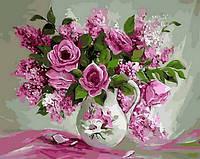 """Раскраска по номерам """"Розовая нежность""""  худ. Антонио Джанильятти"""