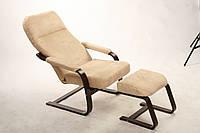 """Кресло-качалка """"Комфорт с подлокотниками и пуфом"""" в гостинную"""