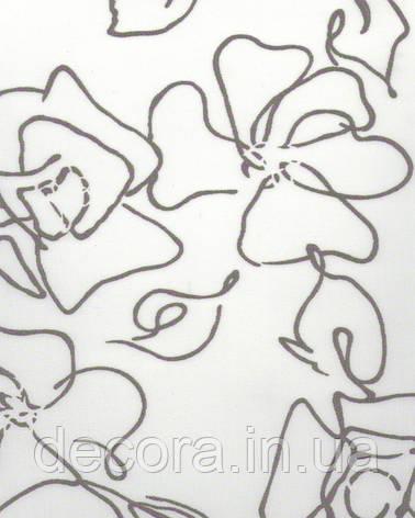 Рулонні штори Міні Флора сіра 2056 40см, фото 2