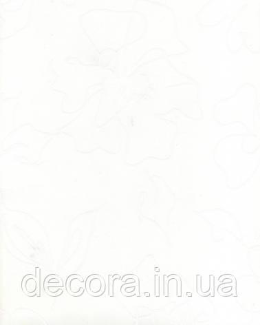 Рулонні штори Міні Флора біла 2055 40см, фото 2