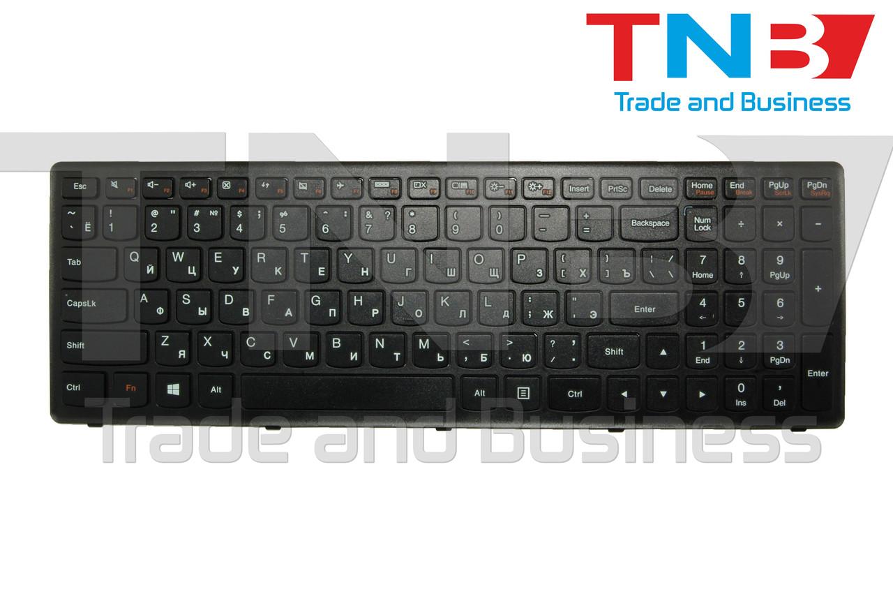 Клавиатура LENOVO Flex 15, Flex 15D, G500s, G505s, S510p черная с черной рамкой RU/US