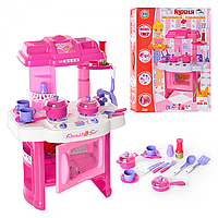 Набор Кухня с плитой 008-26 А розовая