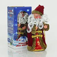 Игрушка Дед Мороз под елку 22 см музыкальный, озвучивание на русском, в коробке. 01212 (48)