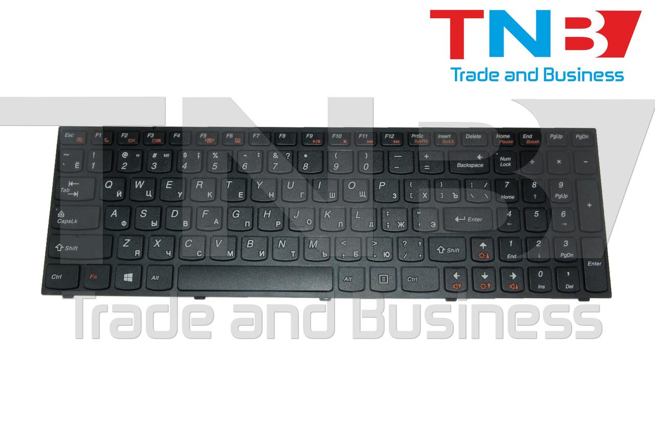 Клавиатура Lenovo IdeaPad B5400 M5400 черная с черной рамкой RU/US