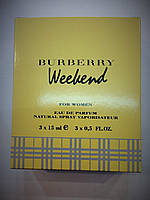 Burberry Weekend for Women edt 3шт x 15 ml
