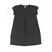Платье для девочки-подростка 16-08 К\Р Серое