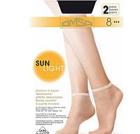 Тонкие дышащие носочки OMSA SUN LIGHT 8 ден 2 пары KLG-416