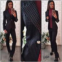 """Женский, осенний костюм в классическом стиле """"Пиджак на подкладке + брюки"""""""