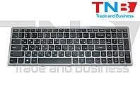 Клавиатура Lenovo IdeaPad Z500; P500 черная с серой рамкой RU/US