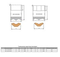 Фреза профильная, напаяннная т/с для обработки фасонных поверхностей реечного плинтуса  140х40/50х50х3.