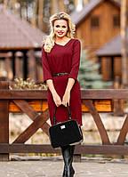 """Элегантное женское платье """"Офис стиль"""" 48-54р  РАЗНЫЕ ЦВЕТА!"""