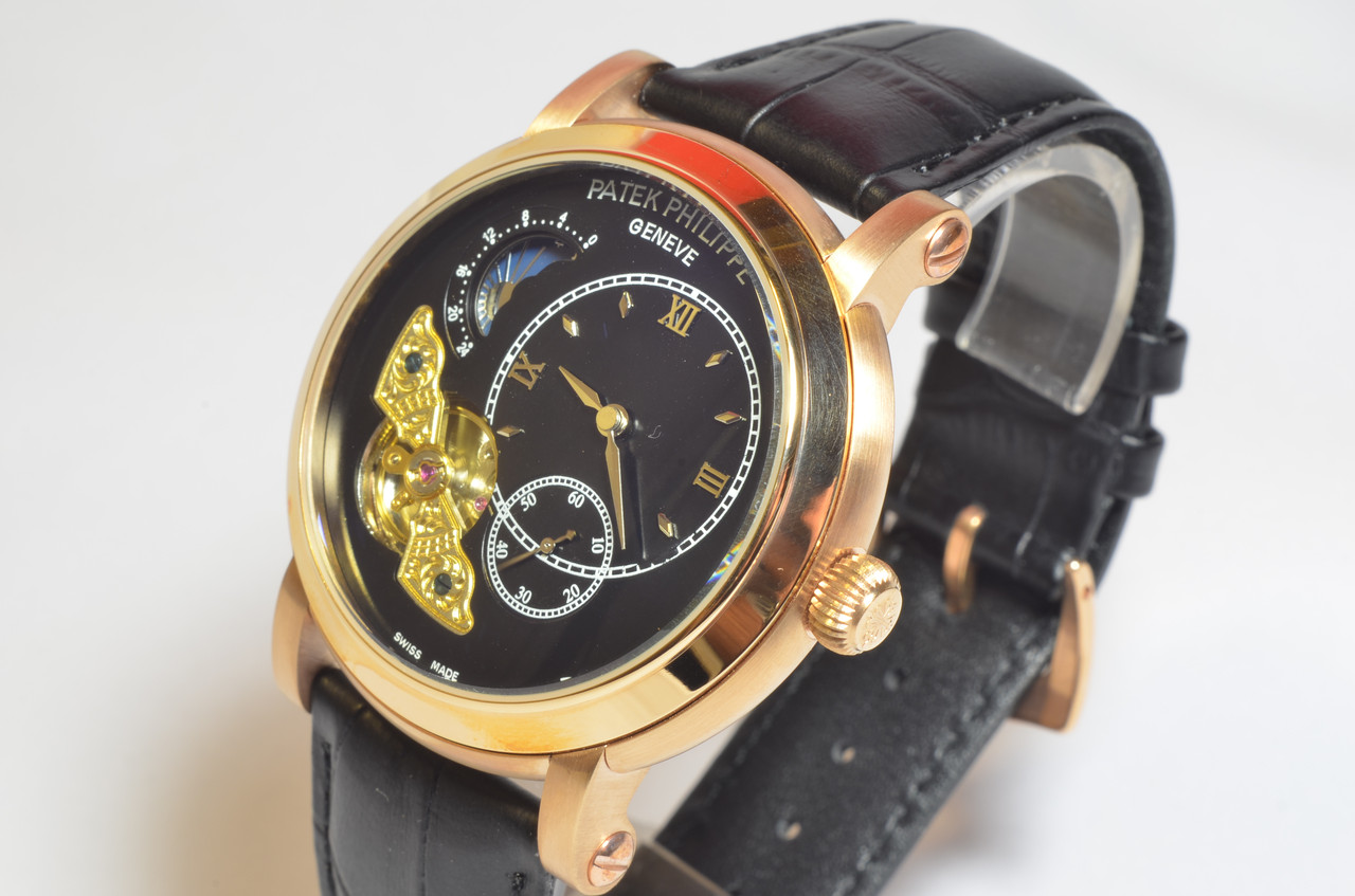Мужские наручные часы Patek Philippe Tourbillion механика, автоподзавод, копия ААА класса