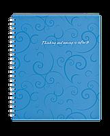 Зошит на пруж. Barocco В5, 80 арк, кл., блакитний, пласт.обкл.BM.2419-614