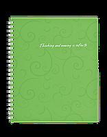 Зошит на пруж. Barocco В5, 80 арк, кл., салатовий, пласт.обкл.BM.2419-615