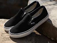 Мужские слипоны Vans (ванс) черные
