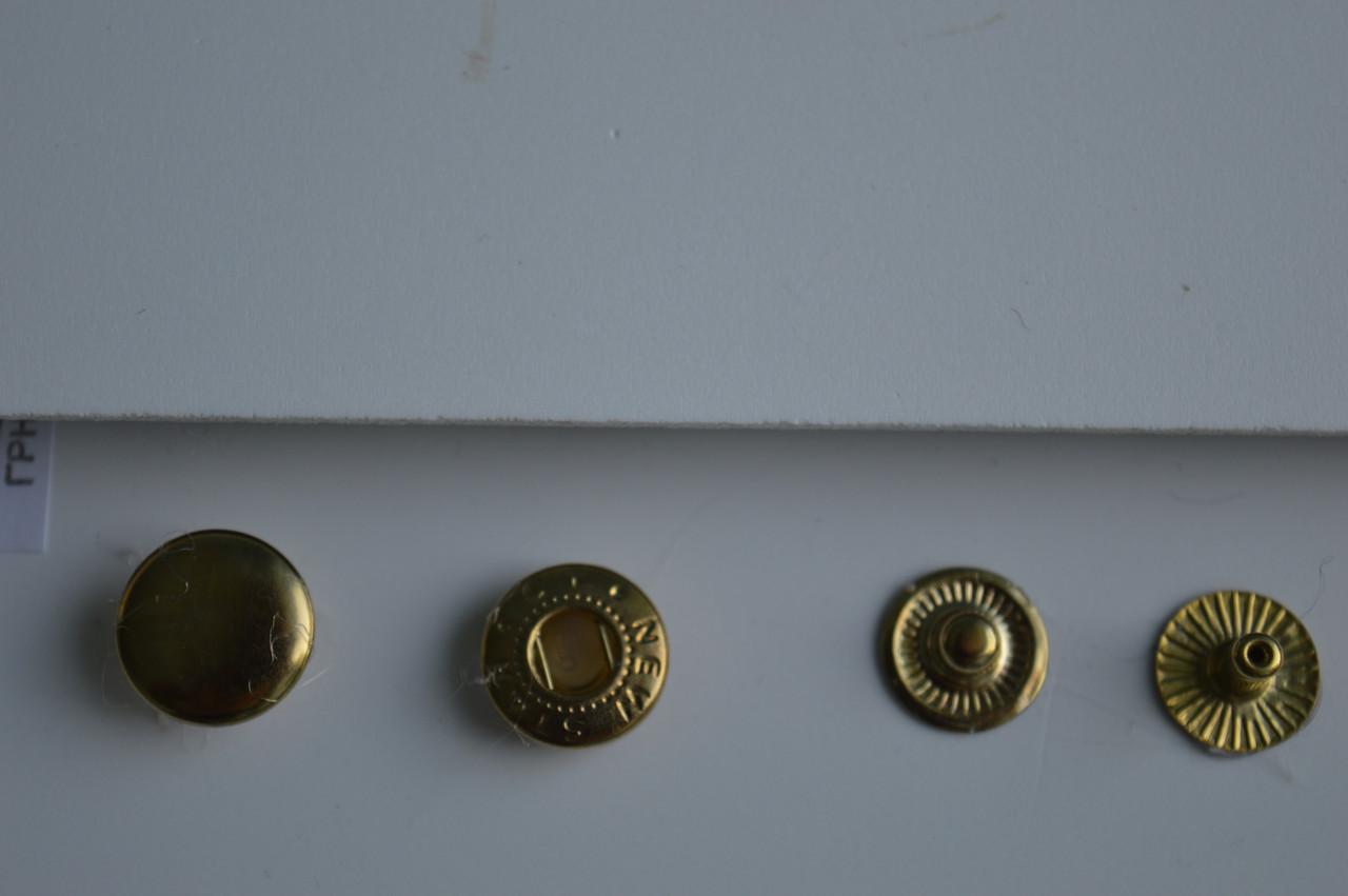 Золото Кнопки альфа 12.5 мм (№ 54)