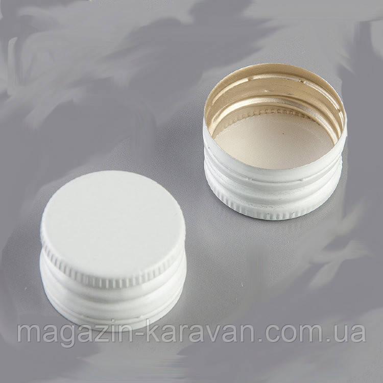 Колпачок алюминиевый 28*18 белый резьба