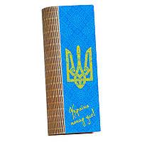 Школьный пенал из дерева Україна понад усе!
