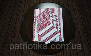 Скатерть с салфетками красная   Скатертина з серветками 190х140