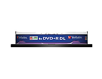 Диск DVD+R, 8.5Gb, 8х, Double Layer, Cake (10)d.43666