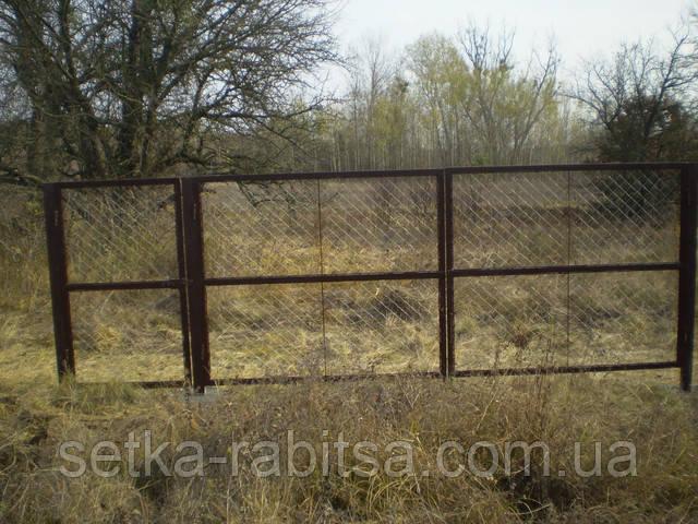 Металлические ворота и калитка
