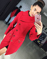 """Женское демисезонное пальто """" Прадо"""" красный, 42"""