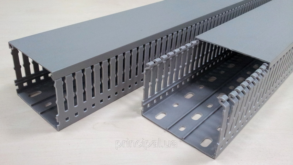 Кабель канал перфорированный пластиковый с крышкой 80 х 60