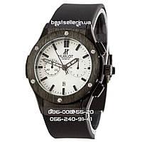 Часы Hublot 1002 (Кварц) black/white (UNISEX). Реплика, фото 1