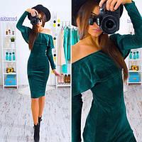 Женское платье материал бархат