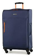 Стильный тканевый 4-колесный чемодан 86 л. Members Hi-Lite (L) Navy 923399 синий