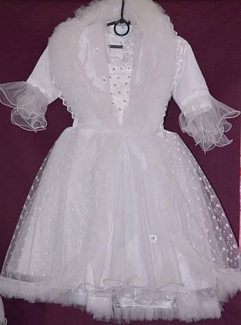 Платье бальное детское Снегурочка 4-5 лет, фото 2