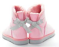 Модные,тёплые угги розового цвета