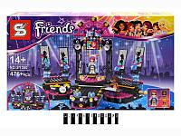 "Конструктор SENCO SY380 ""Friends ""Сцена"", 476 деталей"